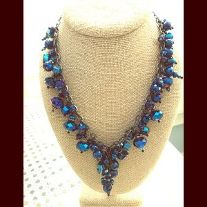 Swarovski beaded necklace and earrings